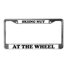 Skiing Nut License Plate Frame