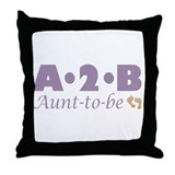 Aunt to Be Throw Pillow
