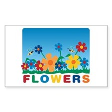 """Flowers"" Rectangle Decal"