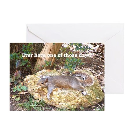 Tired Squirrel Greeting Cards (Pk of 10)