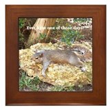 Tired Squirrel Framed Tile