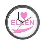 I Love Ellen Wall Clock