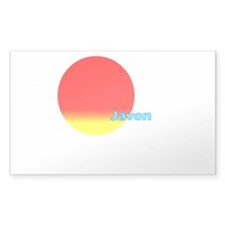 Javon Rectangle Sticker 50 pk)