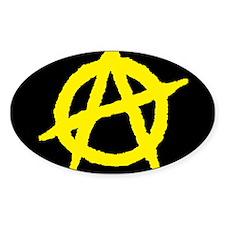 Anarchist Oval Sticker (10 pk)