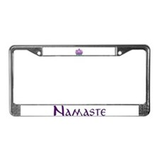 Namaste and Lotus License Plate Frame
