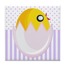Easter Egg Chick Tile Coaster