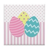 Colorful Easter Eggs Tile Coaster