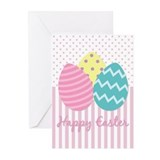 Colorful Easter Eggs Greeting Cards (Pk of 10)