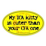 My ICA is cuter Oval Decal