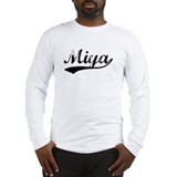 Vintage Miya (Black) Long Sleeve T-Shirt