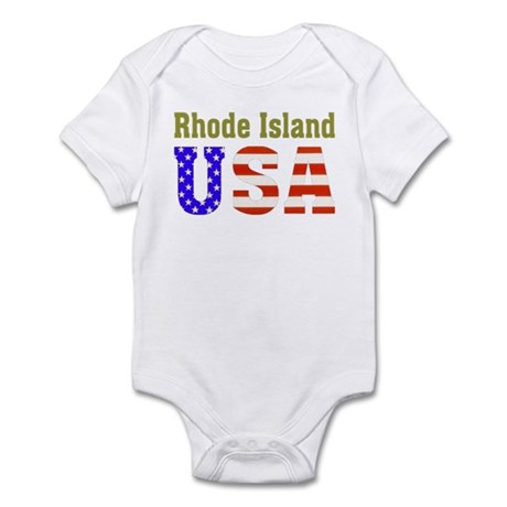 Rhode Island USA Infant Bodysuit
