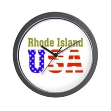 Rhode Island USA Wall Clock