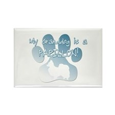 Papillon Granddog Rectangle Magnet