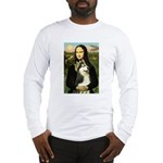 Mona Lisa & Siberian Husky Long Sleeve T-Shirt