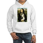 Mona Lisa & Siberian Husky Hooded Sweatshirt