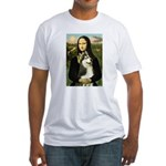 Mona Lisa & Siberian Husky Fitted T-Shirt
