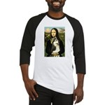 Mona Lisa & Siberian Husky Baseball Jersey