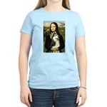 Mona Lisa & Siberian Husky Women's Light T-Shirt