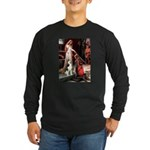 Princess / Siberian Husky Long Sleeve Dark T-Shirt