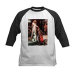 Princess / Siberian Husky Kids Baseball Jersey