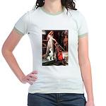 Princess / Siberian Husky Jr. Ringer T-Shirt