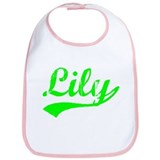 Vintage Lily (Green) Bib