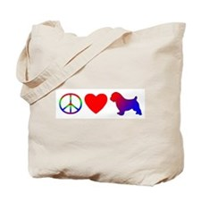 Peace Love Norfolk Terrier Tote Bag