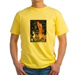 Mid.Eve / Siberian Husky Yellow T-Shirt
