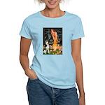 Mid.Eve / Siberian Husky Women's Light T-Shirt