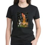 Mid.Eve / Siberian Husky Women's Dark T-Shirt