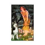 Mid.Eve / Siberian Husky Sticker (Rectangle)