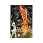 Mid.Eve / Siberian Husky Rectangle Magnet (10 pack