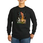 Mid.Eve / Siberian Husky Long Sleeve Dark T-Shirt