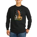 Mid.Eve / Siberian Husky Long Sleeve Dark T-Shirt