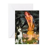 Mid.Eve / Siberian Husky Greeting Card