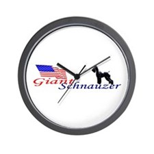 girl stacked against flag Wall Clock