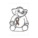 Autism Elephant Rectangle Sticker 50 pk)