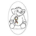Autism Elephant Oval Sticker (50 pk)