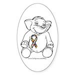 Autism Elephant Oval Sticker (10 pk)
