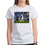 Starry Night & Husky Women's T-Shirt