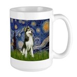 Starry Night & Husky Large Mug