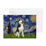 Starry Night & Husky Greeting Cards (Pk of 10)