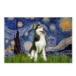 Starry Night & Husky Postcards (Package of 8)