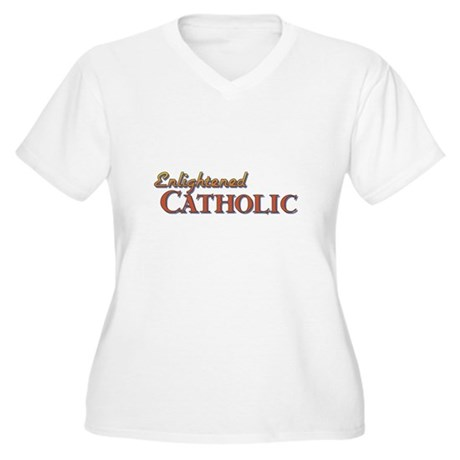 Enlightened Catholic Women's Plus Size V-Neck T-Sh
