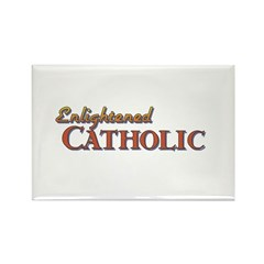 Enlightened Catholic Rectangle Magnet (10 pack)
