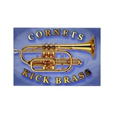 Cornets Kick Brass Rectangle Magnet
