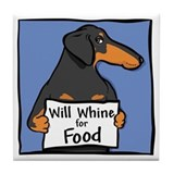 Will Whine BT Weinerdog Tile Coaster