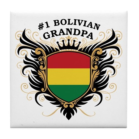 Number One Bolivian Grandpa Tile Coaster