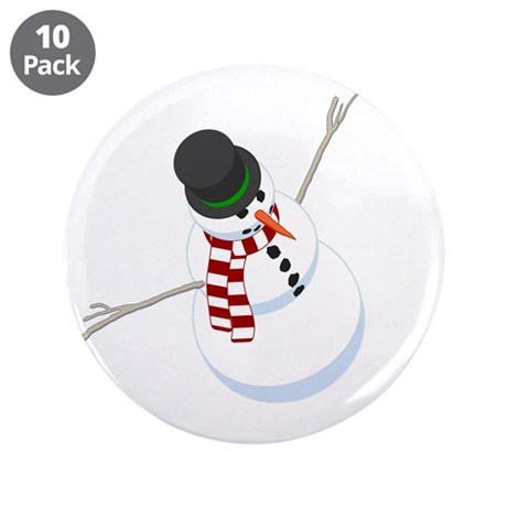 "Bliz the Snowman 3.5"" Button (10 pack)"