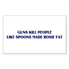 Guns/Rosie Rectangle Sticker 50 pk)